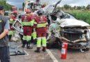 Identificado casal que morreu em colisão de caminhonete e carreta na BR-163
